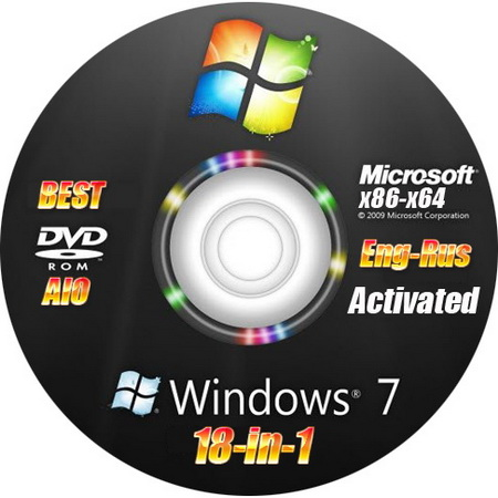 Microsoft Windows 7 SP1 18 in 1 Activated AIO by m0nkrus (RUS/ENG/x86/x64)