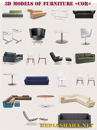 "3D models of Furniture ""COR"""