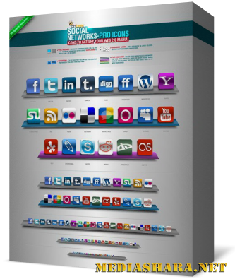 Social Networks Pro Icons – GraphicRiver