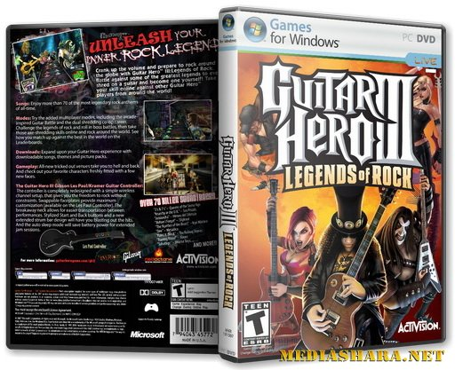 Guitar Hero: III. Legends Of Rock (2007) PC