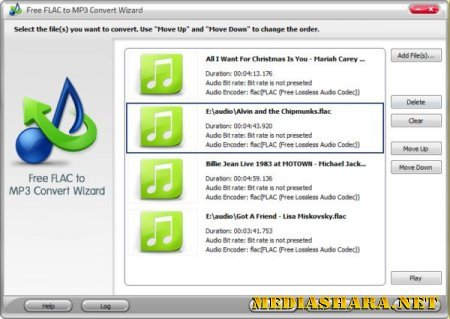 Free FLAC to MP3 Convert Wizard 5.0.3