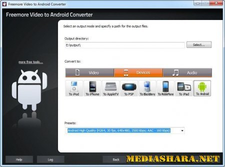 Freemore Video to Android Converter 2.2.2