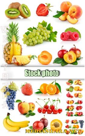 Фрукты, ягоды / Fruits, berries - Raster clipart