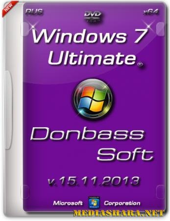 Windows 7 Ultimate SP1 DS v.15.11.13 (x64/RUS/2013)
