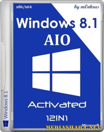 Windows 8.1 with Update -12in1- Activated by m0nkrus (x86/x64/RUS/ENG/2014)