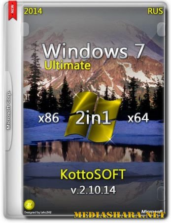 Windows 7 Ultimate KottoSOFT v.2.10.14 (x86/x64/RUS/2014)